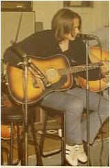 Dave Keir with Framus guitar, London, c. 1972